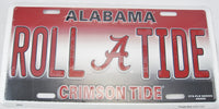 Roll Tide University of Alabama UOA Crimson Tide UA Aluminum Embossed License Plate