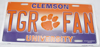 TGR Fan ClemsonTigers State University ACC Aluminum Embossed License Plate