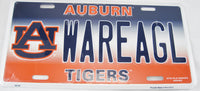Wareagl Auburn Tigers State University AU War Eagle Aluminum Embossed License Plate