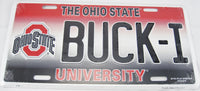 Buck - I Ohio State University Buckeyes OSU Aluminum Embossed License Plate