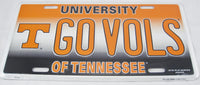 Go Vols Tennessee University Volunteers Aluminum Embossed License Plate