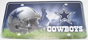 Dallas Cowboys Texas Aluminum Embossed License Plate