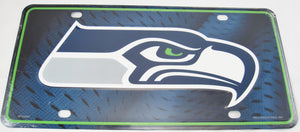 Seattle Seahawks Aluminum Embossed License Plate