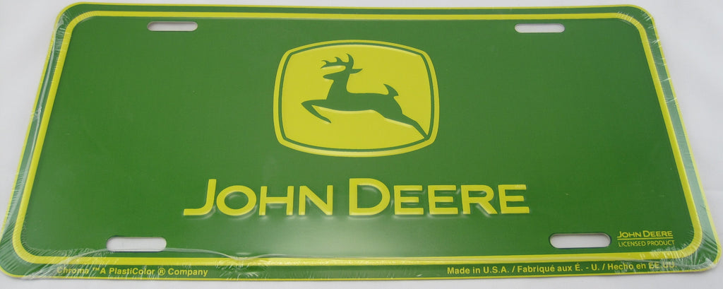 John Deere Tractor Aluminum Embossed License Plate New Sign
