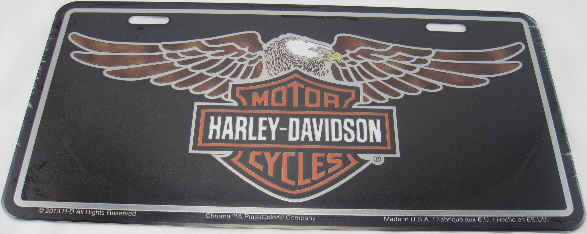 HARLEY DAVIDSON Motorcycles PLate and Shield Eagle Aluminum Embossed License Plate