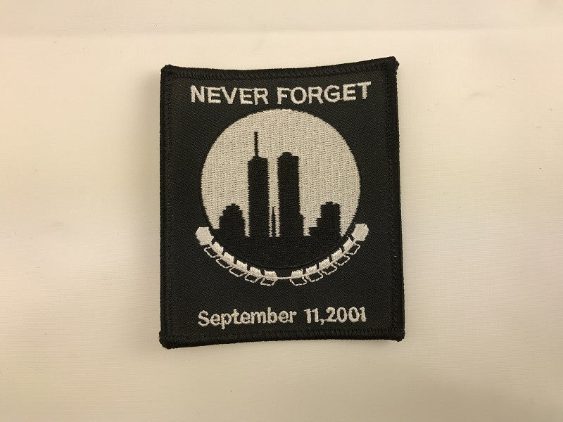 "3 1/2"" X 3 1/2""  Never Forget September 11, 2001 Embroidered Patch Twin Towers"