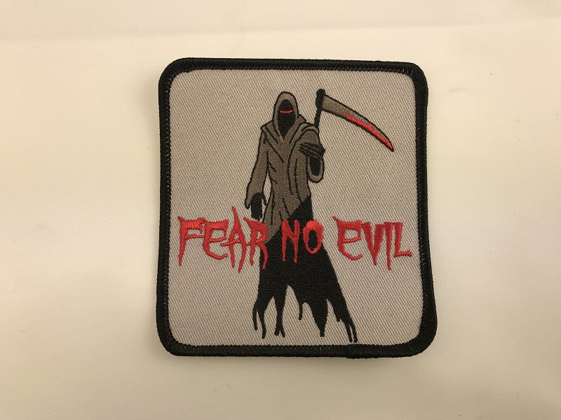 "4"" X 4"" Fear No Evil Grim Reaper Embroidered Patch"
