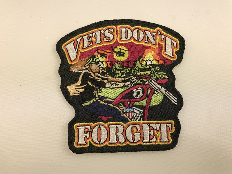 "4"" X 4"" Vets Don't Forget Embroidered Patch"