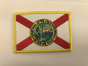 "2 1/4"" X 3 1/4"" Florida Embroidered Patch"