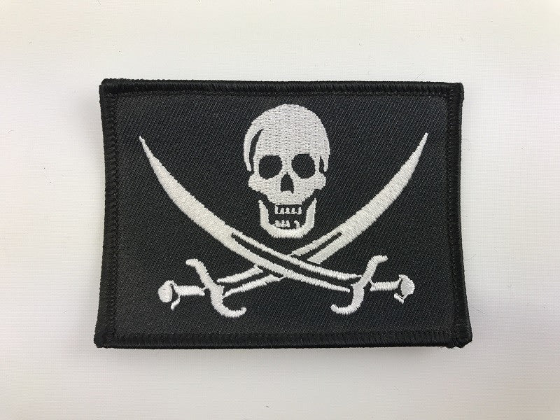 "2 1/2"" X 3 1/2"" Jolly Roger Pirate Embroidered Patch"