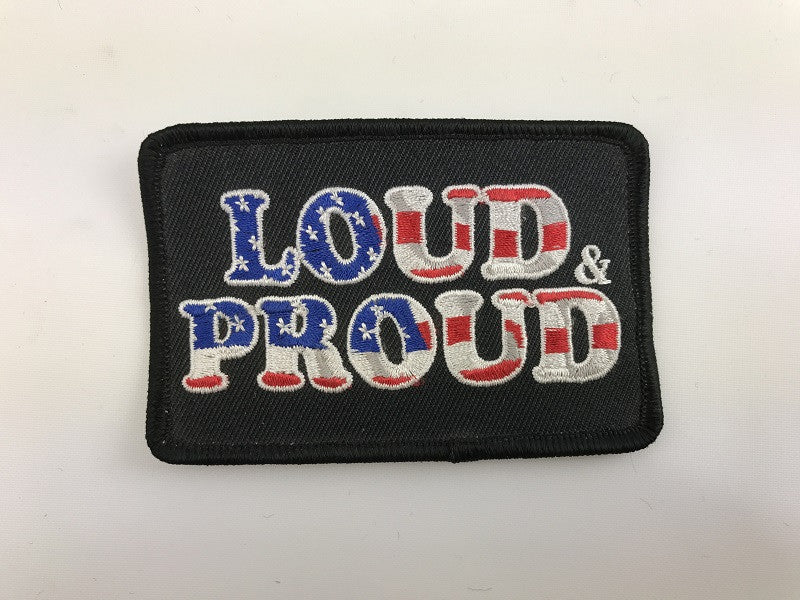 "2 1/4"" X 3 1/2"" Loud and Proud USA Embroidered Patch"