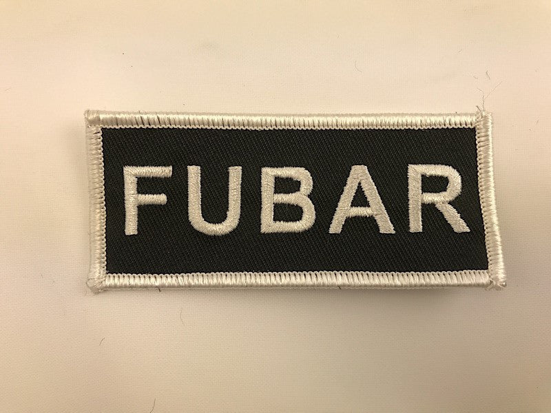 "1 1/2"" X 3 1/2"" FUBAR Embroidered Patch"