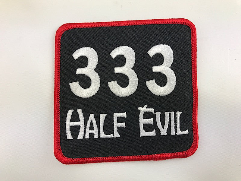 "3 1/2"" X 3 1/2"" 333 Half Evil Embroidered Patch"