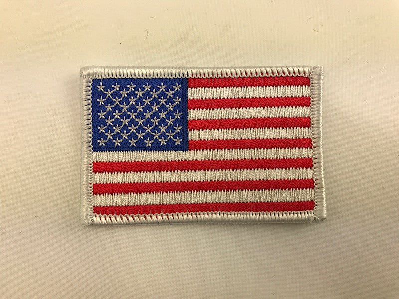 "2"" X 3"" USA America Flag With White Border Embroidered Patch"