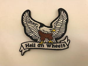 "3"" X 3"" Hell On Wheels With Eagle Embroidered Patch"