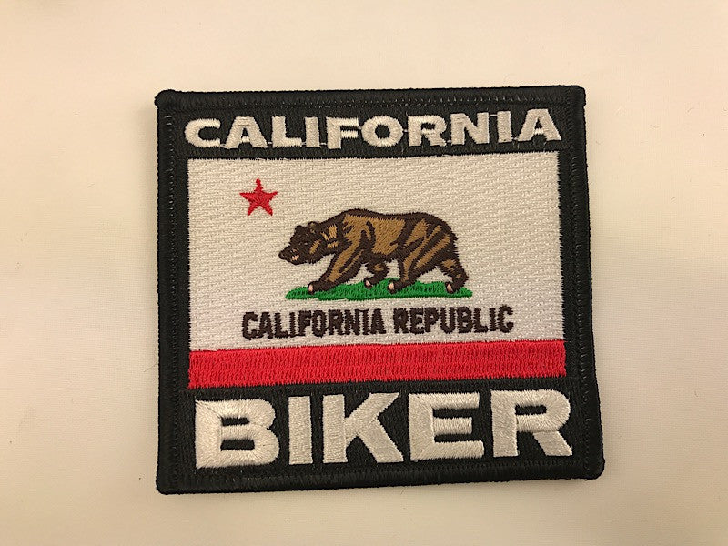 "3 1/4"" X 3 1/2"" California Biker Flag Embroidered Patch Republic"