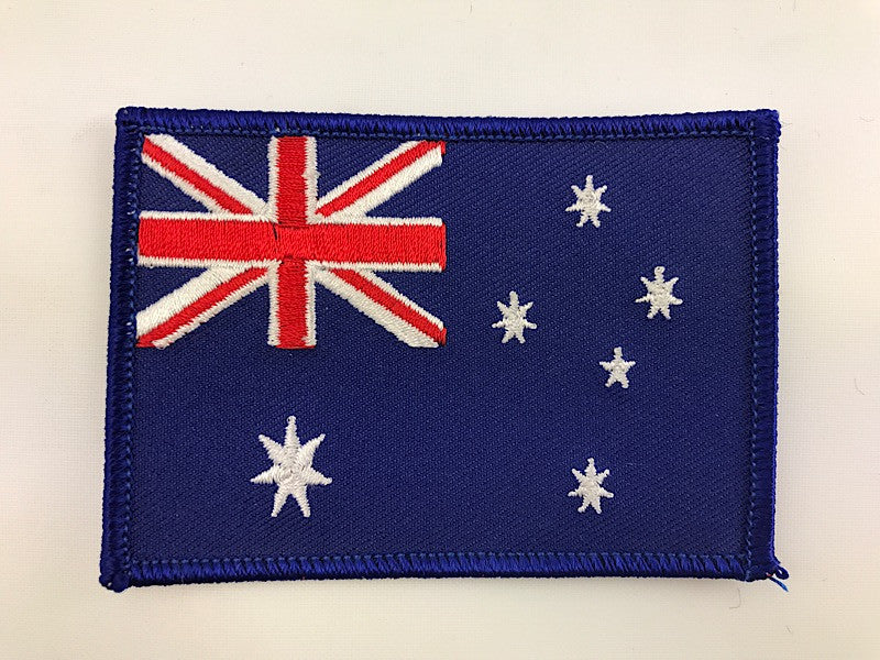 "2 1/2"" X 3 1/2"" Australia Flag Embroidered Patch Australian"
