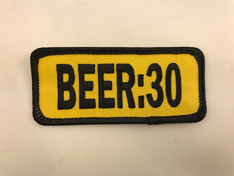 "1 1/2"" X 3 1/2"" BEER:30 Embroidered Patch"