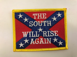 "2 1/4"" X 3 1/4"" The South Will Rise Again Embroidered Patch Rebel Confederate"