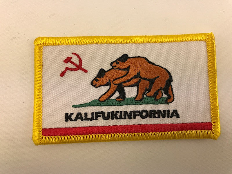 "2"" X 3 1/2"" Kalifukinfornia Embroidered Patch"