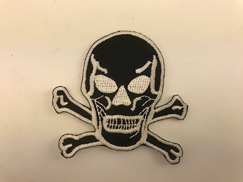 "2 1/2 "" X 2 1/2""  Black Skull Embroidered Patch Pirate"