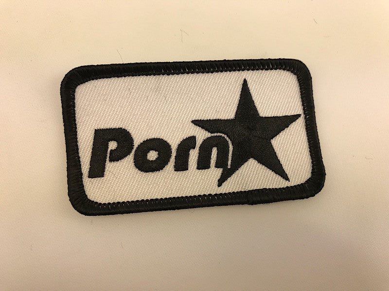 "1 1/2"" X 3"" Porn Star Embroidered Patch"