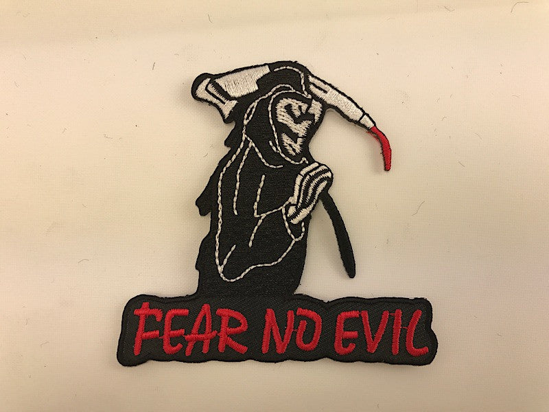 "3"" Fear No Evil Reaper Embroidered Patch"
