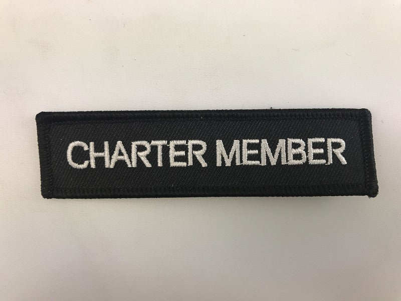 "1"" X 4"" Charter Member Embroidered Patch"