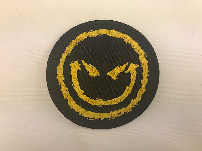 "3"" Evil Smiling Face Embroidered Patch"