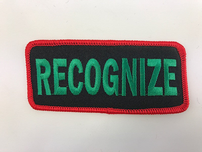 "1 1/2"" X 3 1/2"" Recognize Embroidered Patch"