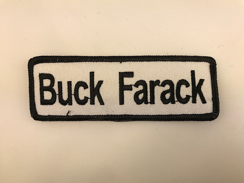 "1 1/2"" X 4"" Buck Farack Embroidered Patch"