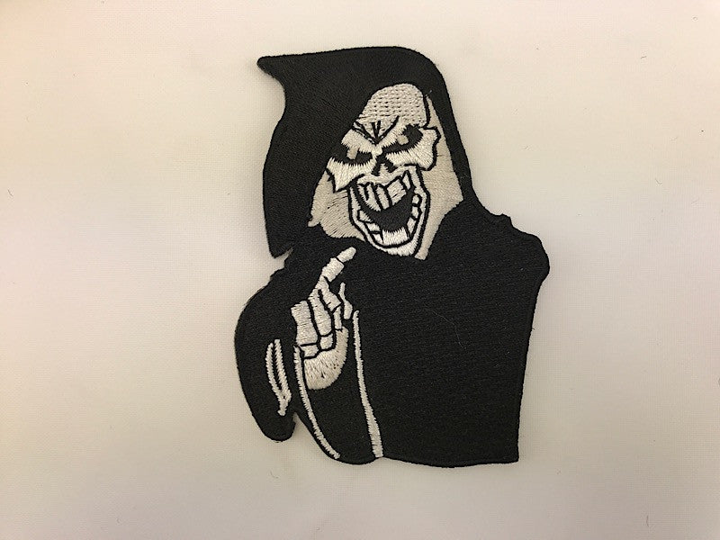 "2 1/2"" X 3 1/2"" Grim Reaper Embroidered Patch"