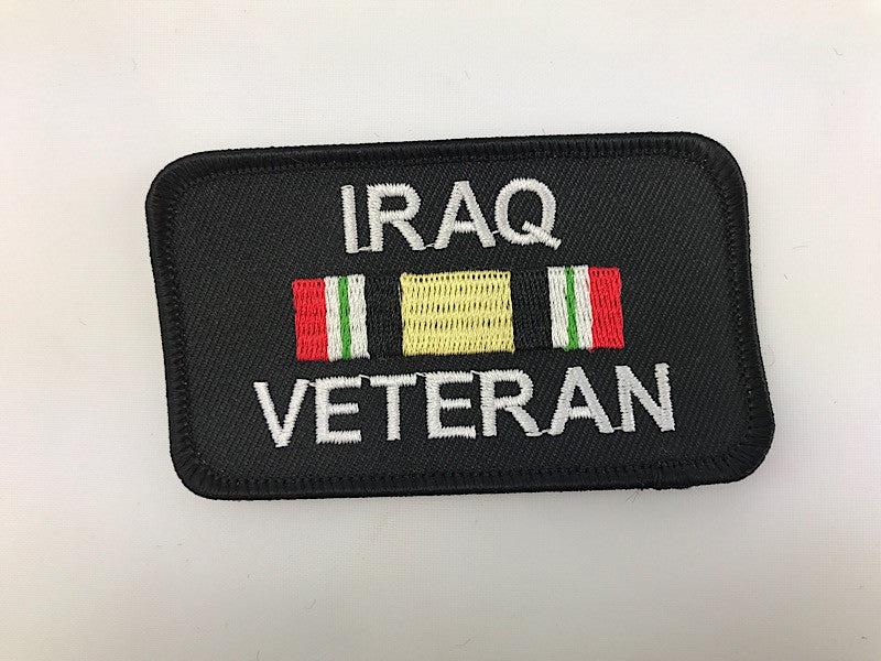 "2"" X 3 1/2"" Iraq Veteran Embroidered Patch"