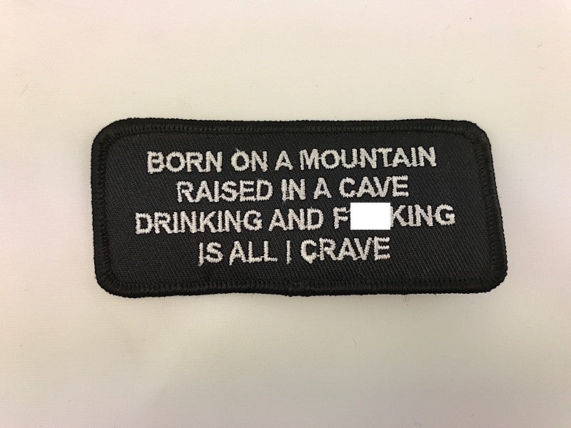 "1 1/2"" X 3 1/2"" Born On A Mountain Embroidered Patch"