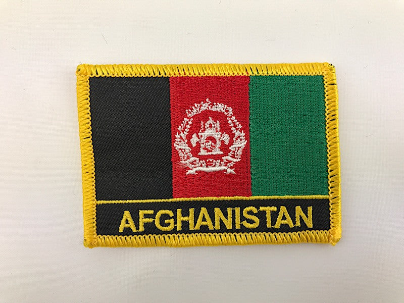 "2"" X 3"" Afghanistan Flag Embroidered Patch"