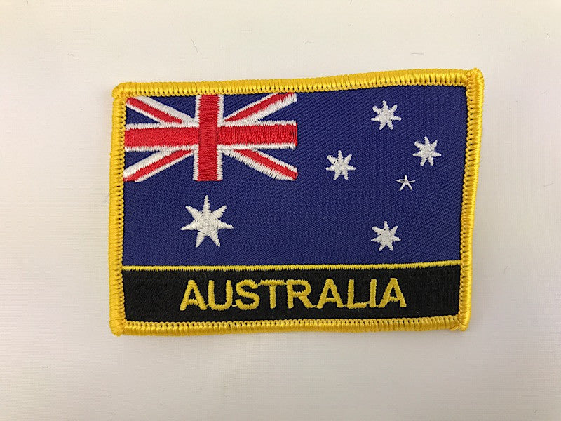 "2 1/4"" X 3"" Australia Flag Embroidered Patch"