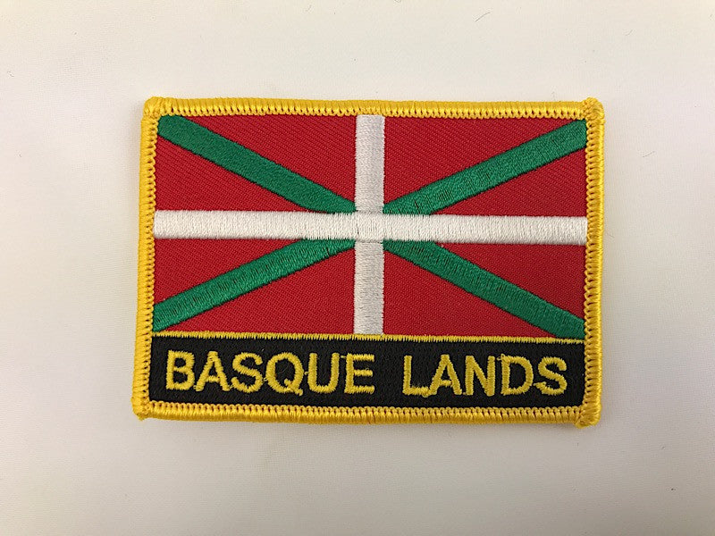 "2 1/4"" X 3"" Basque Lands Flag Embroidered Patch"