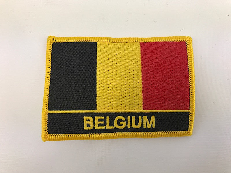 "2 1/4"" X 3"" Belgium Flag Embroidered Patch"