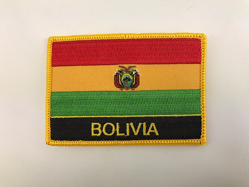 "2 1/4"" X 3"" Bolivia Flag Embroidered Patch"