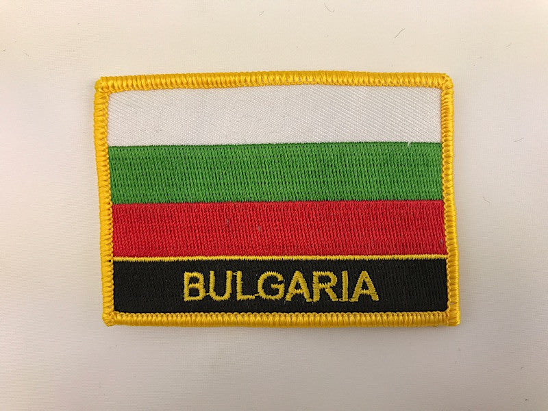 "2 1/4"" X 3"" Bulgaria Flag Embroidered Patch"