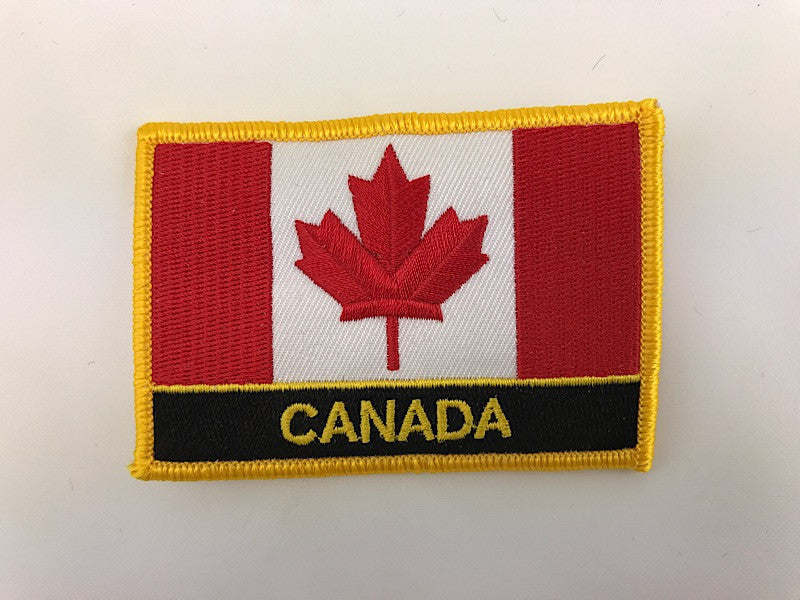 "2 1/4"" X 3"" Canada Flag Embroidered Patch"