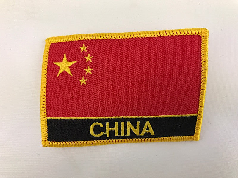 "2 1/4"" X 3"" China Flag Embroidered Patch"