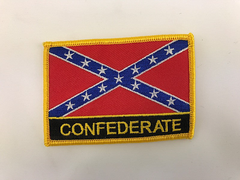 "2 1/4"" X 3"" Confederate Flag Embroidered Patch Rebel"
