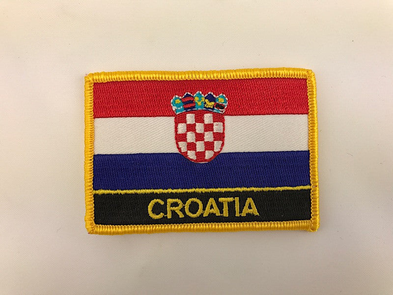 "2 1/4"" X 3"" Croatia Flag Embroidered Patch"