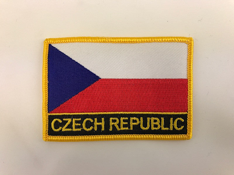 "2 1/4"" X 3"" Czech Republic Flag Embroidered Patch"