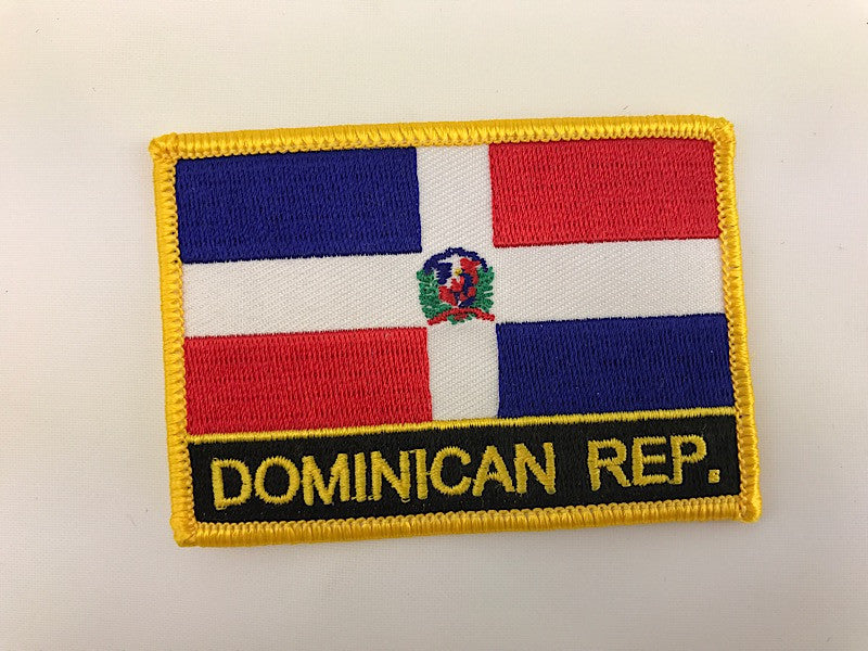 "2 1/4"" X 3"" Dominican Republic Flag Embroidered Patch"