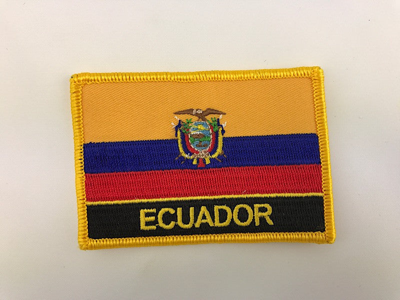 "2 1/4"" X 3"" Ecuador Flag Embroidered Patch"