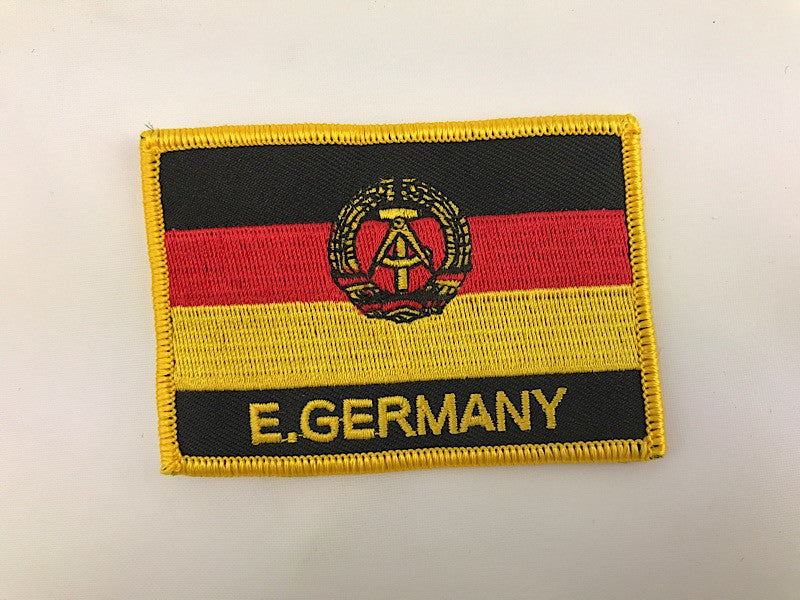 "2 1/4"" X 3"" East Germany Flag Embroidered Patch"