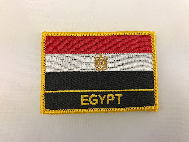 "2 1/4"" X 3"" Egypt Flag Embroidered Patch"