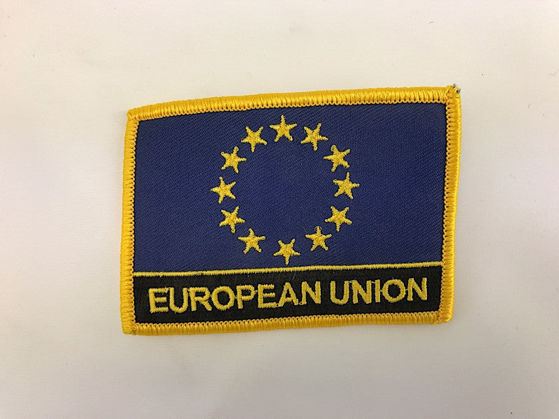 "2 1/4"" X 3"" European Union Flag Embroidered Patch"